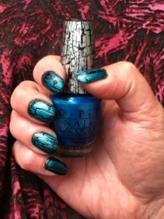 how to use opi black shatter