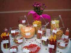 Candy table for baby shower Mexican Candy Table, Mexican Snacks, Mexican Fiesta Party, Mexican Birthday Parties, Theme Parties, 21st Birthday, Mexican Babies, Festa Party, 21 Party