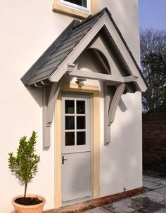 For faster service・ translated farmhouse porch design Cottage Front Doors, House Front Porch, Cottage Porch, Side Porch, Side Door, Front Porches, Door Canopy Porch, Porch Doors, Porch Canopy Ideas