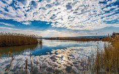 Lake Neusiedl in Burgenland (Austria)