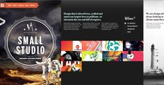 Small Studio is an award winning creative agency, founded in Melbourne in 2007 by directors Paul Kotz and Todd Proctor. Describing themselves as 'design adventurers', this online portfolio is an adventure for any user. I love the balance of color, the dark tones give it a real professional and clean look and the small splashes of color effectively brighten and enhance the overall portfolio website look.