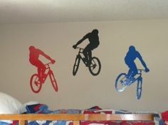 BMX Bikes for Boys Room Large 20x14in by CustomVinylDesigns, $60.00