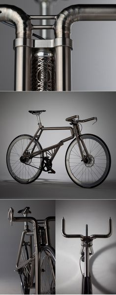 Samurai Bike by Kazushige Miyake http://www.blog-espritdesign.com/pays/japon/samurai-velo-titane-par-kazushige-miyake-29715