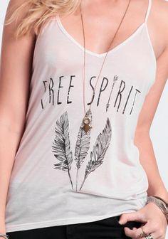 Free Spirit Graphic Tank - Tops - Clothing