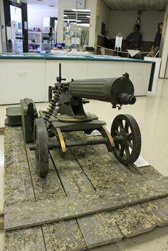 Jääkärimuseo Kortesjärvi. Maxim konekivääri 09-21 Venäläinen Sokolov-malli