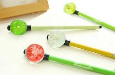 So your pen collection is looking a little sparse and needs perking up? These fruit pens are full of cute zesty goodness and will brighten up your day in your pencil case or on your desk....
