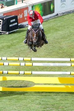 Eric Lamaze on his late great Hickstead.
