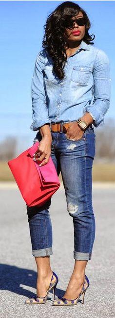 Denim on Denim / Jadore Fashion