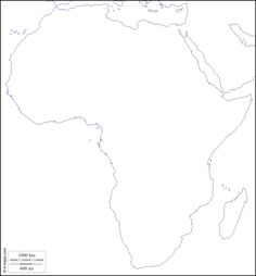 Africa : free map, free blank map, free outline map, free base map : coasts (white)