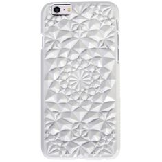 White Kaleidoscope iPhone Case ($40) ❤ liked on Polyvore featuring accessories, tech accessories, phone, phone cases, extras, iphone, apple iphone case, white iphone case, iphone sleeve case and iphone cases
