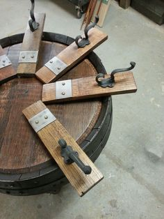 Wine staves coat hooks $21.95