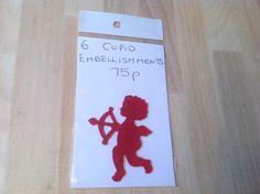 Cupid embellishments handmade 75p