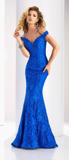 Clarisse Prom 2018 dress 4801. Fit and flare off shoulder lace dress with rhinestone embellishments. Find your local Clarisse retailer today by visiting the Where to Buy tab on our website, or click the link below! Colors available: Royal, Vamp Red, Black, Blush, Navy, Purple  Comes in sizes 00-28 http://www.clarisse.com/locator/index.php