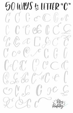 50 ways to letter c