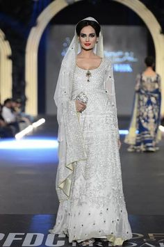 Lovely white bridal dress #Pakistani fashion bridal wear