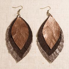 Glory Haus - Metallic Leather Earring $32