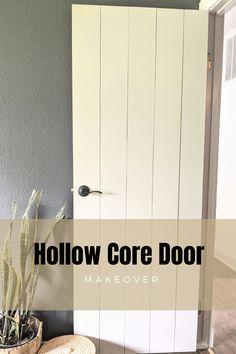 Cheap Interior Doors, Hollow Core Interior Doors, Hollow Core Doors, Cheap Doors, Diy Closet Doors, Closet Door Makeover, Diy Interior Door Makeover, Diy Door, Simple Living