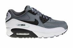 2eb7b0b09e5 Nike Air Max 90 Essential (Gray/White/Black) 537384 057 Men's Sneakers