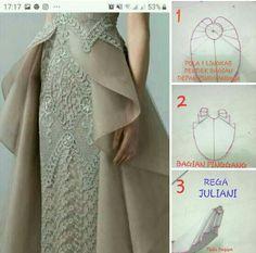 Drape Skirt Pattern, Circle Skirt Pattern, Dress Sewing Patterns, Blouse Patterns, Clothing Patterns, Fashion Sewing, Diy Fashion, Pretty White Dresses, Batik Dress