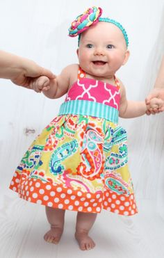 Baby Hadley's Halter Top and Dress PDF Pattern | Sewing Pattern | YouCanMakeThis.com