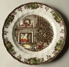 Johnson Brothers Friendly Village Christmas at Replacements Ltd & 4-Johnson-Brothers-Twas-the-Night-Before-Xmas-Dinner-Plates ...