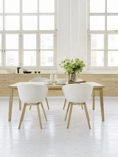 wood & white Pinho (lambril) com chão branco ;)