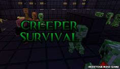 Creeper Survival Map para Minecraft 1.3.1