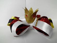 Queen of Hearts Crown? Alice in Wonderland Inspired Hair Bow The Queen by UnburiedTalents