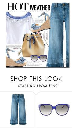 """Casual"" by beebeely-look ❤ liked on Polyvore featuring Current/Elliott, Fendi, Awü, polkadot, summerstyle, sammydress and summersandals"