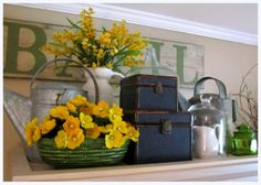 the corson cottage: Quaint Country Cottage ~ Living Room Update at my Mom's Top Of Cabinets, Above Cabinets, Maple Cabinets, Cupboards, Top Of Cabinet Decor, Country Cottage Living Room, Country Kitchen, Cottage Style, Decorating Above Kitchen Cabinets
