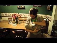 How to nurse in a Moby wrap. #babywearing #breastfeeding
