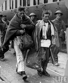 Back on dry land after evacuation from Dunkirk, 1941 #WWII Operation Dynamo