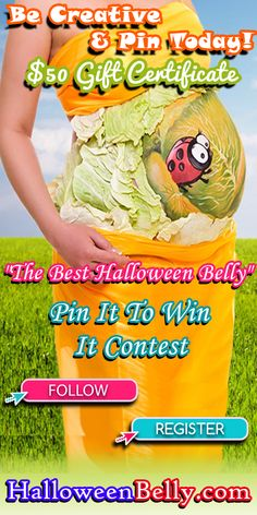 Win a $50 gift certificate to http://www.HerBabyShower.com Share the link http://www.HalloweenBelly.com #HerBabyShower #contest