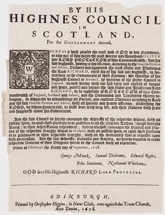 [Archive] Proclamation announcing the death of Oliver Cromwell and the succession of Richard Cromwell as Lord Protector, 1658 [1179 × 1536] - Imgur
