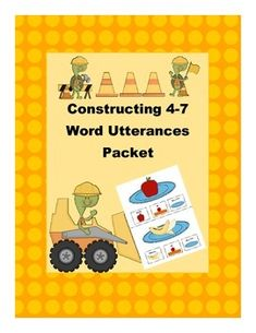 Updated on 3/2/14: Added 2 more themes and additional practice worksheetsThis packet is designed to help students construct sentences that are 3-4 words long. Have your students repeat the sentence using the sentence strip as a visual cue. I have my students point to each box as they say each piece of the sentence.