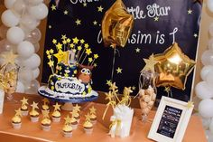 Twinkle Twinkle Little Star birthday party! See more party ideas at CatchMyParty.com!