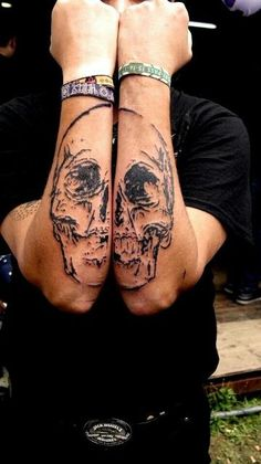 Skull Tattoo Designs for Arm