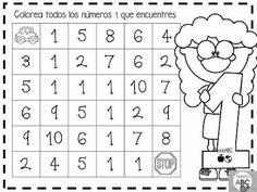 Kindergarten Math Activities, Preschool Classroom, Preschool Worksheets, Preschool Activities, I Love Math, Fun Math, Learning Numbers, Pre Writing, Alphabet Worksheets