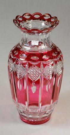 Val St Lambert Vase 'Arco'.
