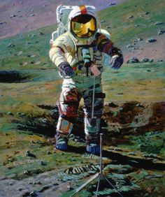 Alan Bean: Apollo, an Explorer Artist's Vision, Moonscape in Orange and Green
