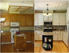 these kitchen cabinets will convince your husband to let you paint, home improvement, kitchen cabinets, kitchen design, Project via Kim The Kim Six Fix