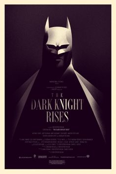 "Yet another awesome Comic Con exclusive. This time from artist Olly Moss. Mondo + Comic Con + ""The Dark Knight Rises"" = Unyielding Gold. Posters Batman, Omg Posters, Awesome Posters, Theatre Posters, Creative Posters, The Dark Knight Rises, Batman The Dark Knight, Batman Dark, Batman Batman"
