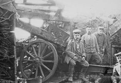 First day of horror: This photograph of members of Walter's gun crew was taken on the 1st ...