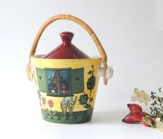 Deco Helsingborg Sweden. Jam Jar. Fun mid-century pottery from Sweden…