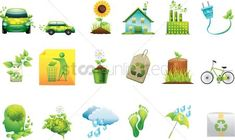 Collection of go green icons vectors, stock clipart , Go Green, Art Decor, Vectors, Clip Art, Awesome, Illustration, Icons, Design, Free