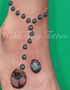 Owl Anklet Tattoo