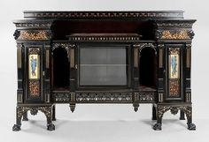 Fine Herter Brothers Inlaid Cabinet
