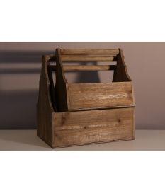 Set tres revisteros madera
