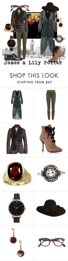 """Doe & Stag"" by raecycle ❤ liked on Polyvore featuring Haute Hippie, J Brand, Missoni, Lanvin, Olivia Burton, Jennifer Ouellette, Chanel, J.Crew, H by Hudson and harrypotter"