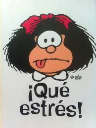 ✿♥♡❤ღ❤♥✿Estrés✿♥♡❤ღ❤♥✿ Lol that's me all day everyday lol Comic Foto, Mafalda Quotes, Me Quotes, Funny Quotes, Funny Puns, Spanish Jokes, Spanish Class, Charlie Brown, Nostalgia